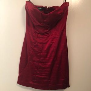 Bebe red size medium satin bodycon dress.